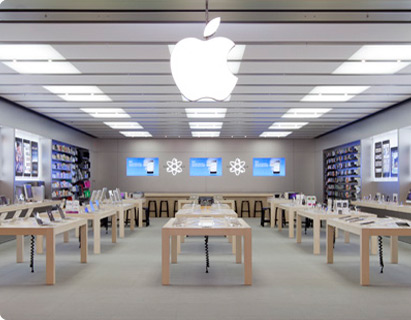 The Apple Store is located in the SouthGate shopping centre, in the main square opposite Urban Outfitters. SouthGate is located at the southeast edge of .